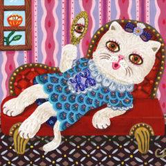 リラックス白猫