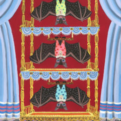 コウモリの3段ベッド