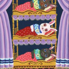 うさぎの3段ベッド
