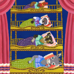 ブレーメンの音楽隊の四段ベッド