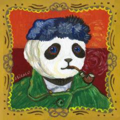 """パンダ名画 """"Self‑Portrait with Bandaged Ear and Pipe  / 包帯をしてパイプをくわえた自画像"""""""
